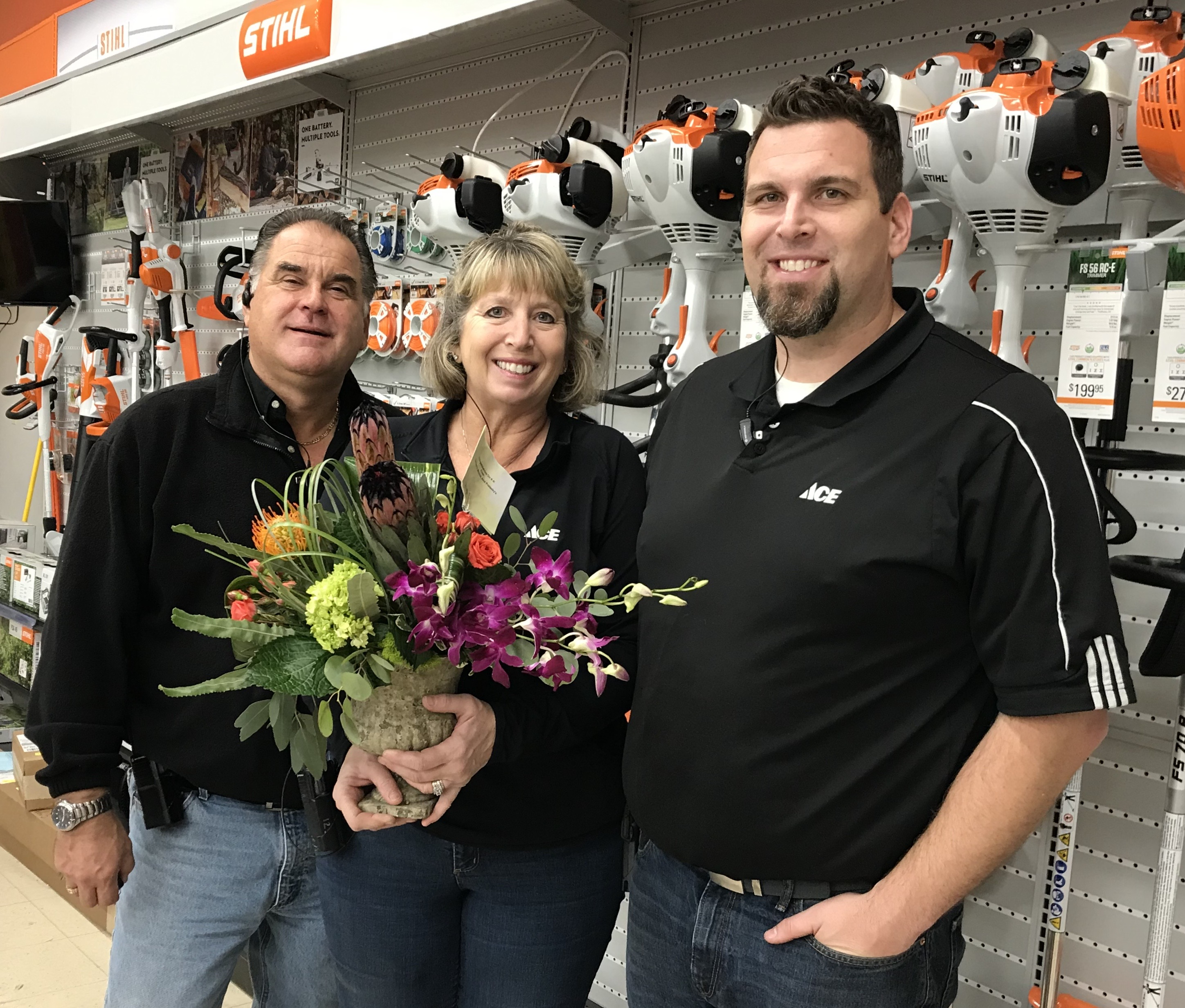 Perry, Barb and Adam Hahn own and operate four Ace Hardware stores in southeast Wisconsin